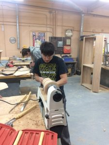 Ryan McGuire working on a lathe project!